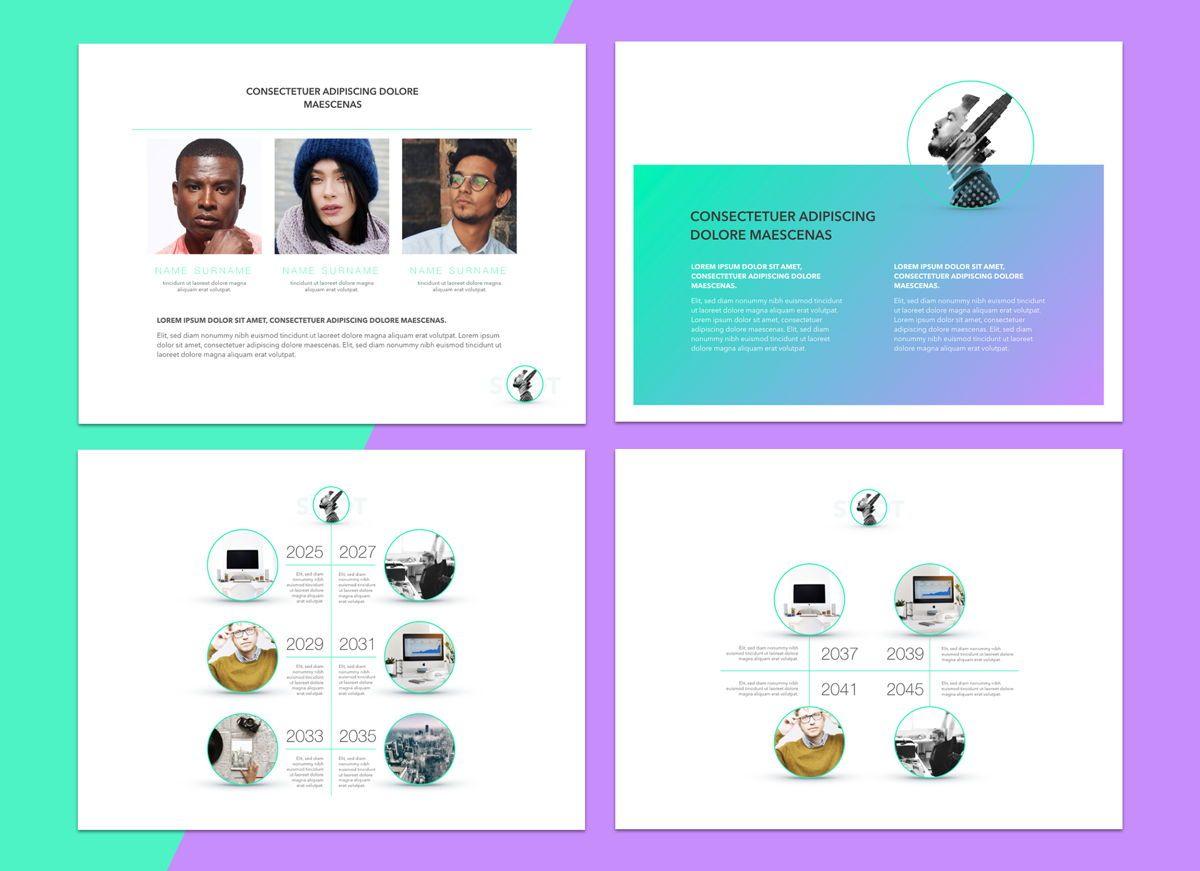 Mind Map Powerpoint Presentation Template, Slide 4, 04799, Business Models — PoweredTemplate.com