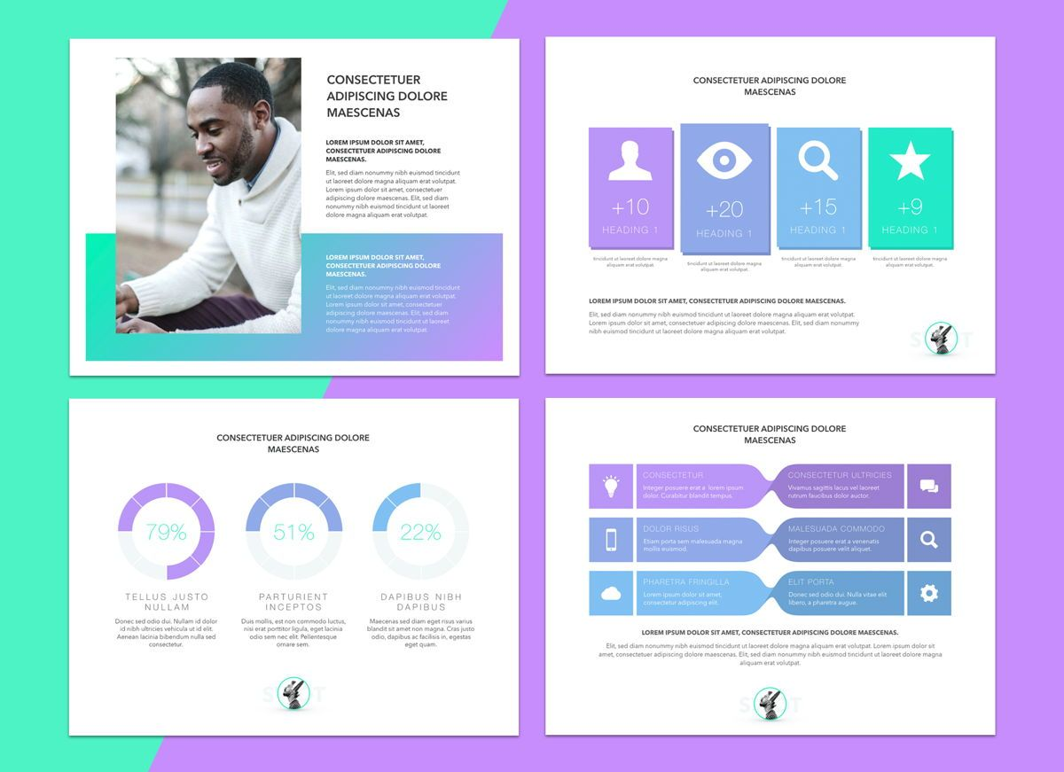 Mind Map Powerpoint Presentation Template, Slide 5, 04799, Business Models — PoweredTemplate.com