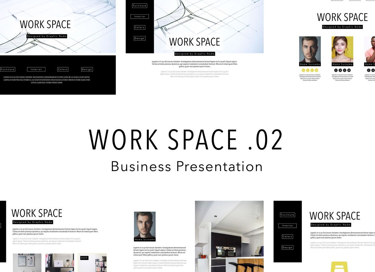 Work Space 02 Google Slides Presentation Template, 04800, Business Models — PoweredTemplate.com