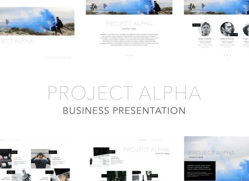 Business Models: Project Alpha Powerpoint Presentation Template #04802