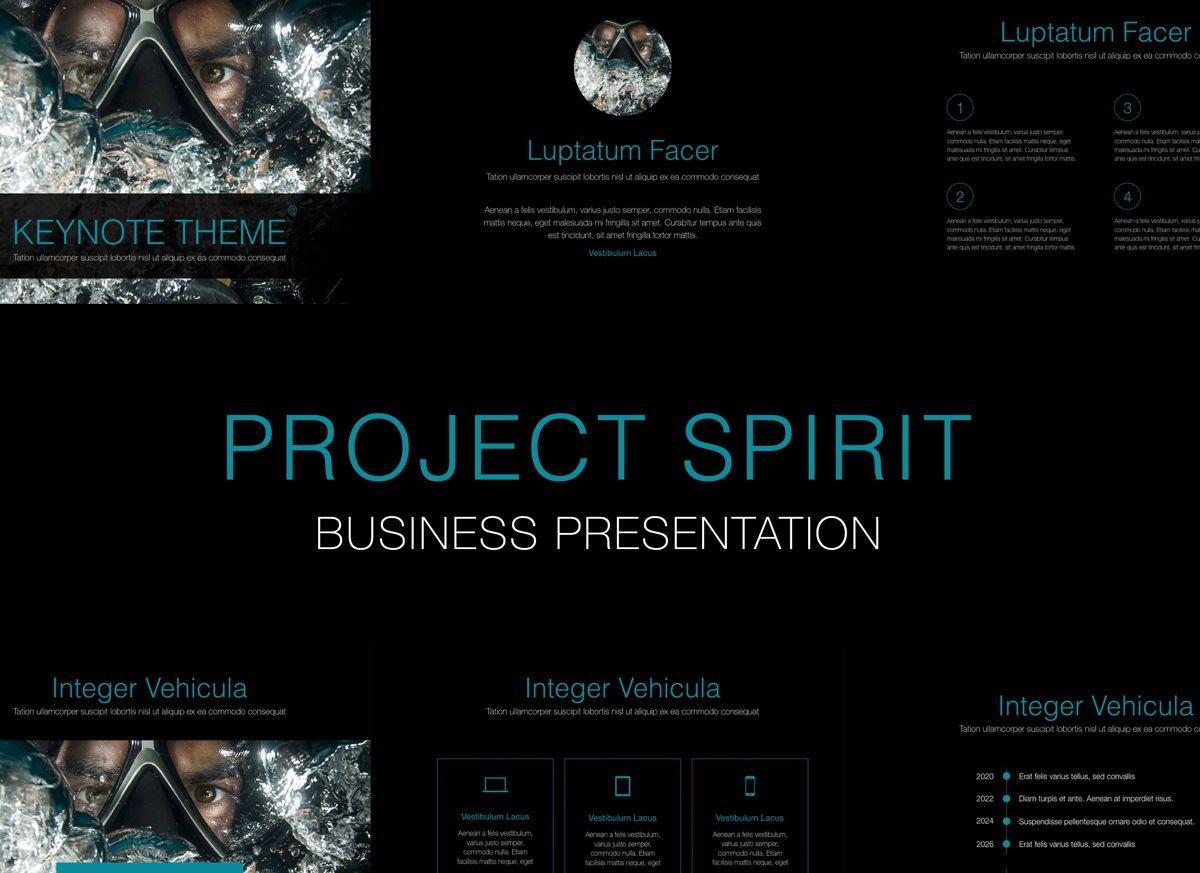 Project Spirit Powerpoint Presentation Template, 04803, Business Models — PoweredTemplate.com