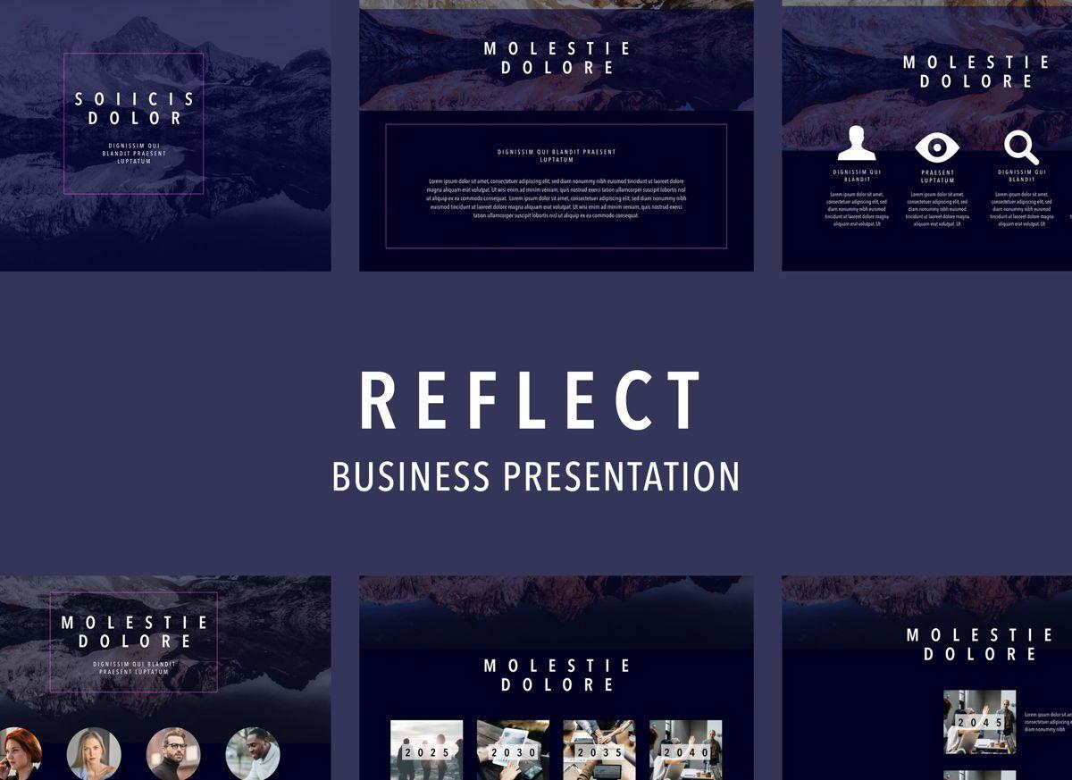 Reflect Powerpoint Presentation Template, 04804, Business Models — PoweredTemplate.com