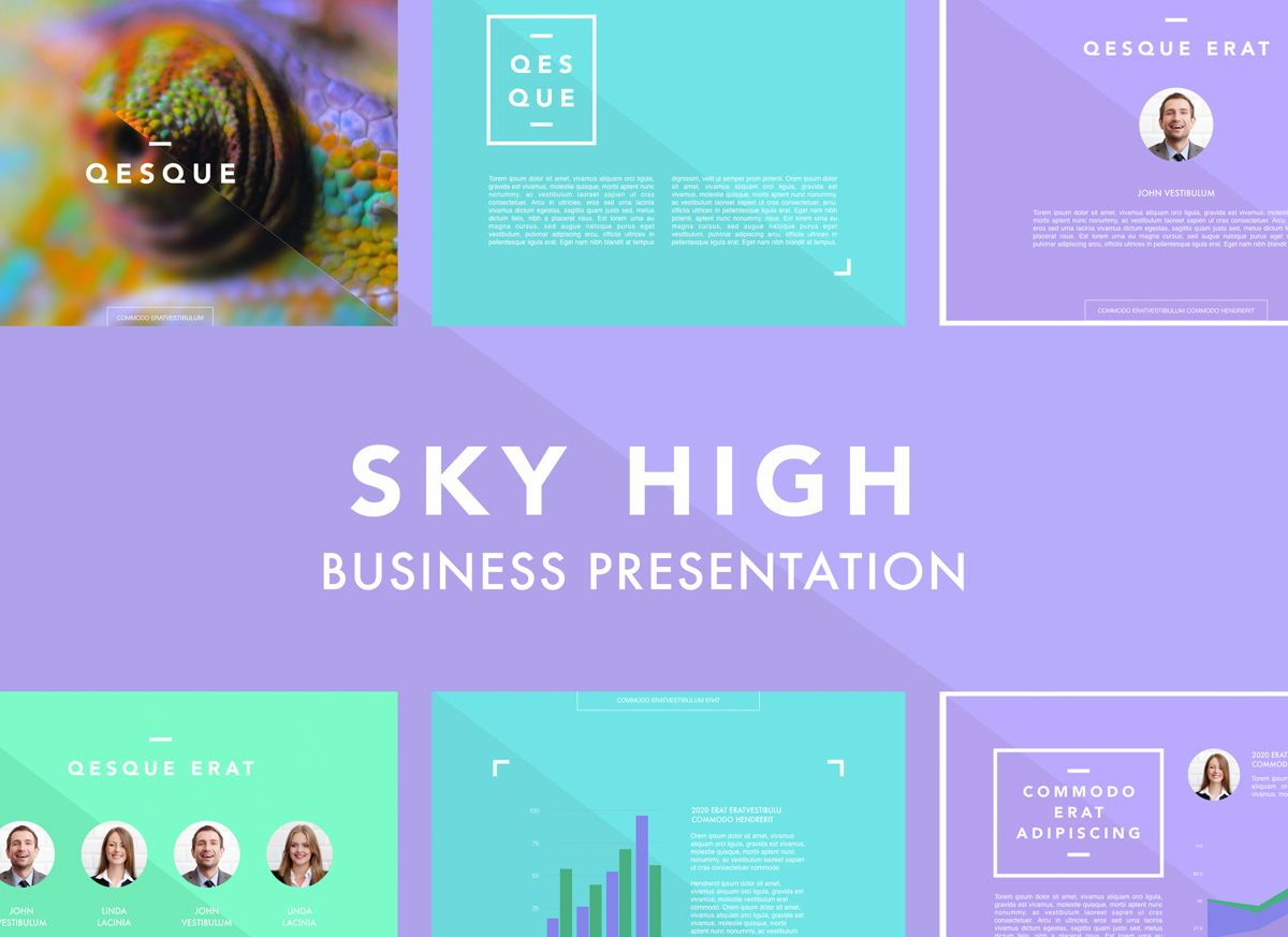 Sky High Powerpoint Presentation Template, 04805, Business Models — PoweredTemplate.com