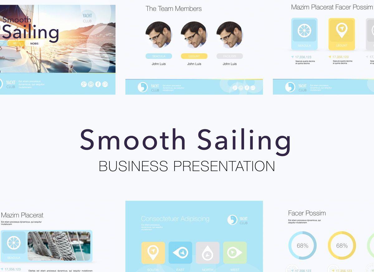 Smooth Sailing Powerpoint Presentation Template, 04806, Business Models — PoweredTemplate.com