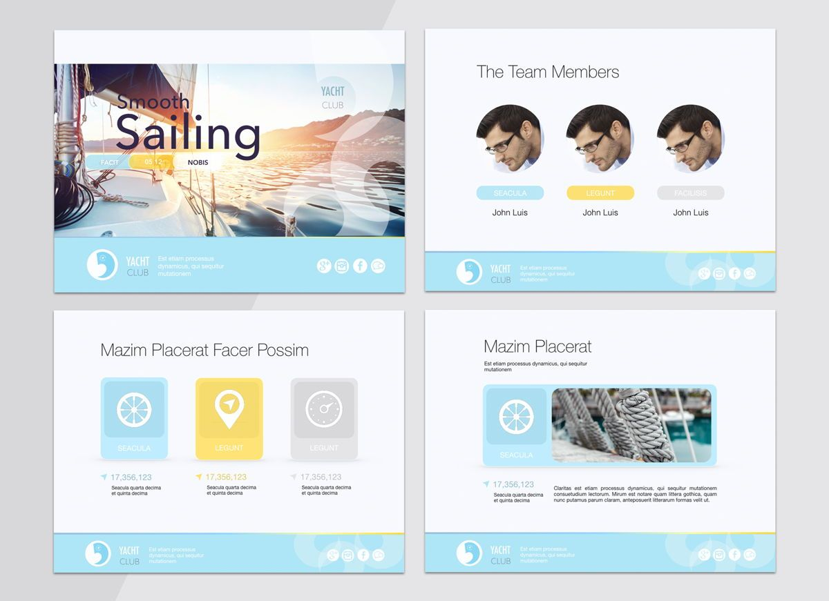 Smooth Sailing Powerpoint Presentation Template, Slide 2, 04806, Business Models — PoweredTemplate.com
