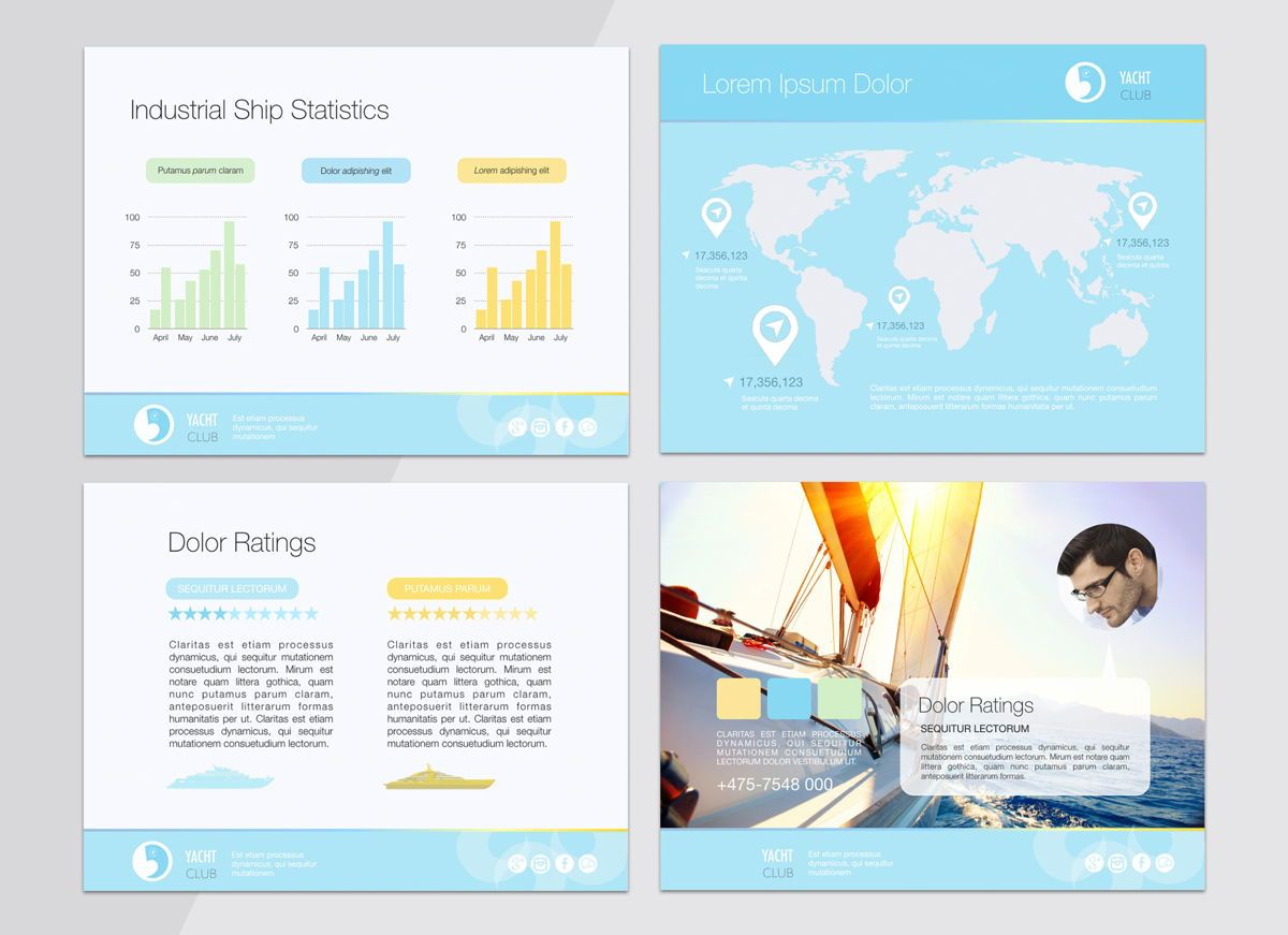 Smooth Sailing Powerpoint Presentation Template, Slide 8, 04806, Business Models — PoweredTemplate.com