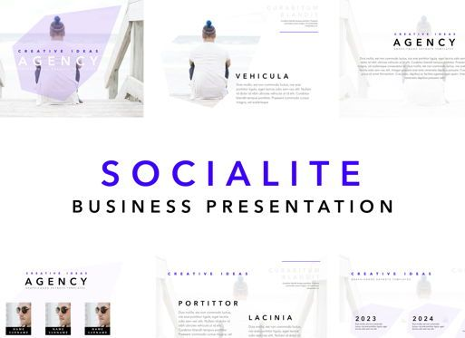 Business Models: Socialite Powerpoint Presentation Template #04807