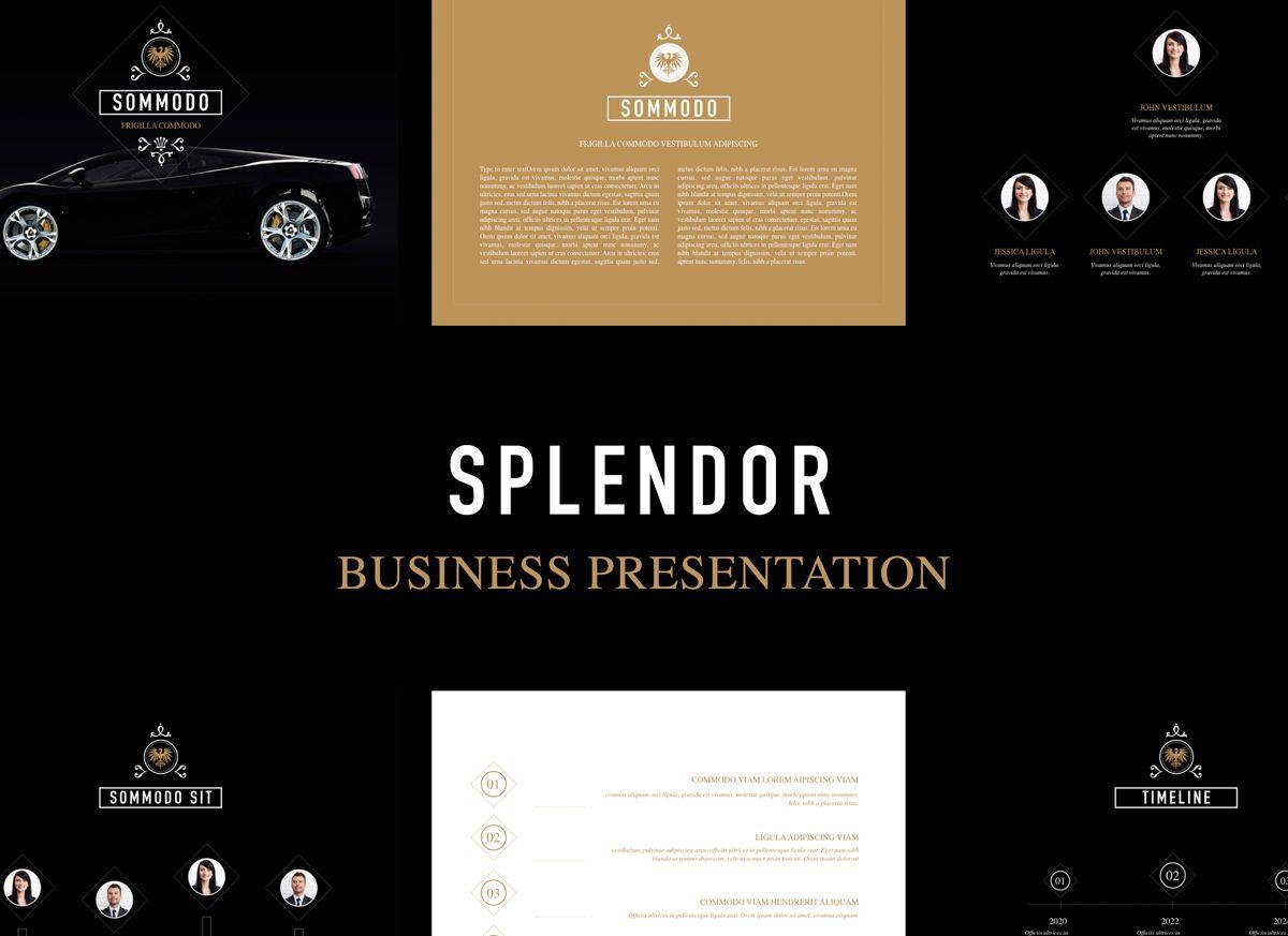 Splendor Powerpoint Presentation Template, 04808, Business Models — PoweredTemplate.com