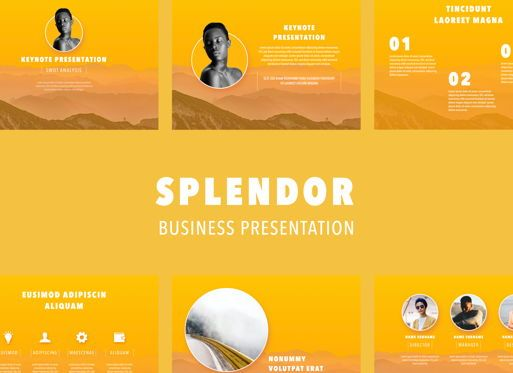 Business Models: Sunny Side Powerpoint Presentation Template #04809
