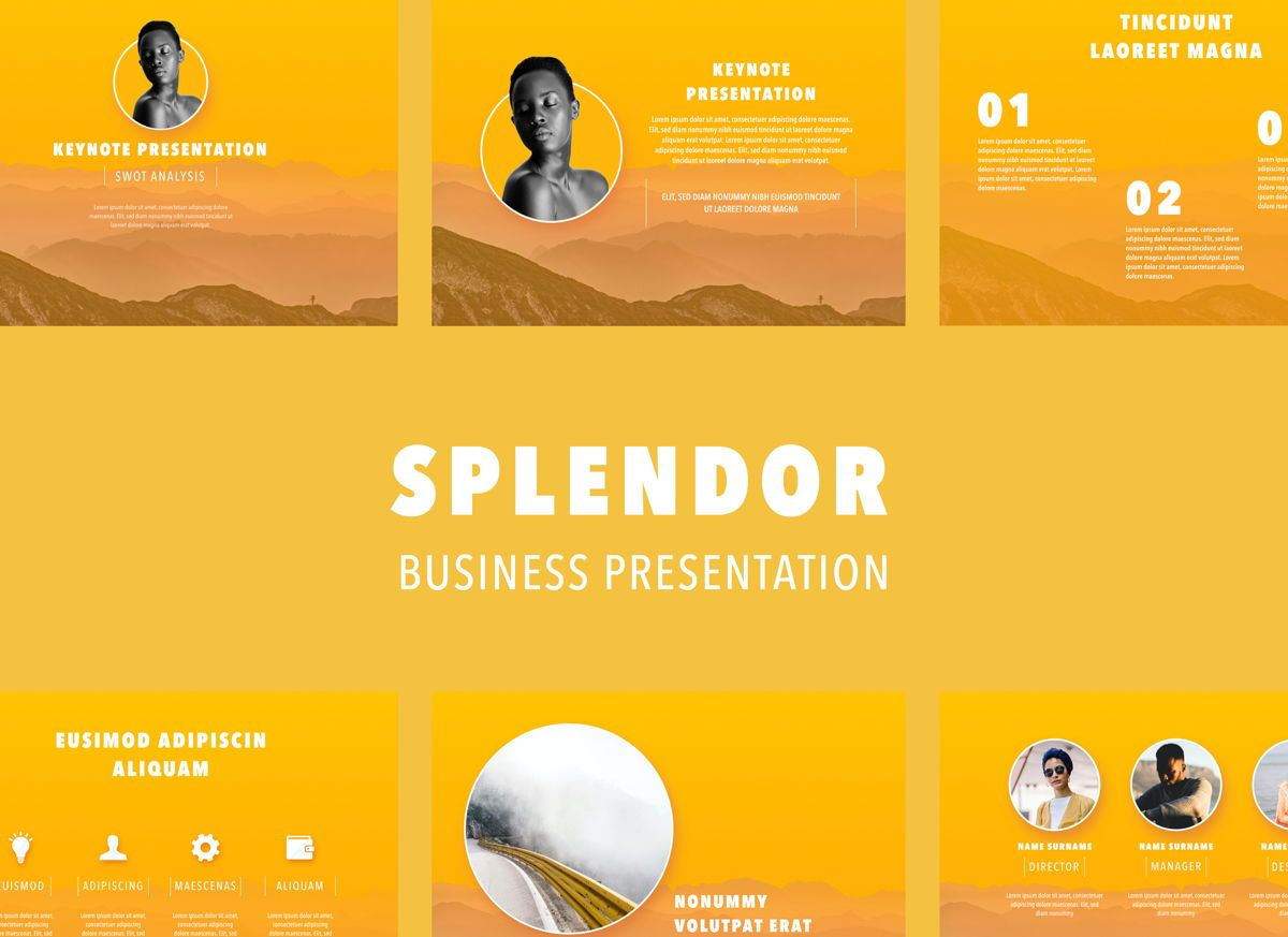 Sunny Side Powerpoint Presentation Template, 04809, Business Models — PoweredTemplate.com