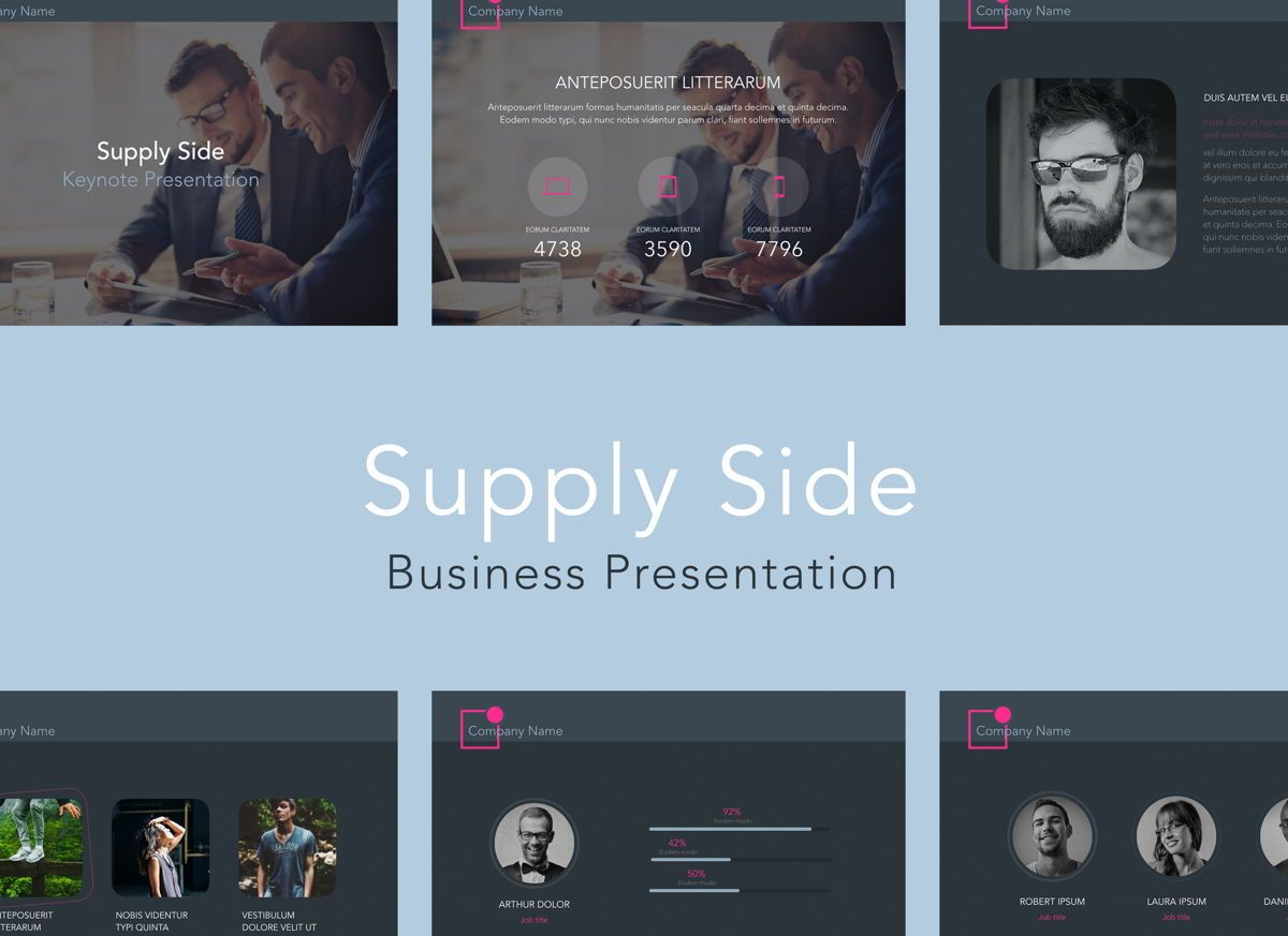 Supply Side Powerpoint Presentation Template, 04810, Business Models — PoweredTemplate.com