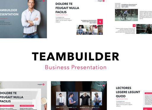Business Models: Teambuilder Powerpoint Presentation Template #04811