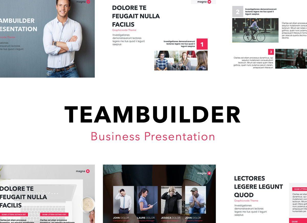 Teambuilder Powerpoint Presentation Template, 04811, Business Models — PoweredTemplate.com