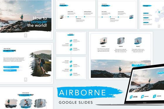 Presentation Templates: Airborne Google Slides Template #04812