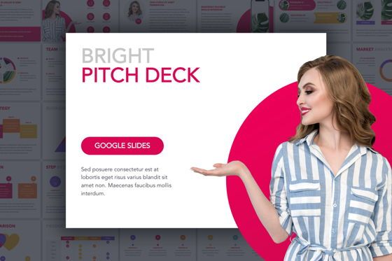 Infographics: Bright Pitch Deck Google Slides Template #04813