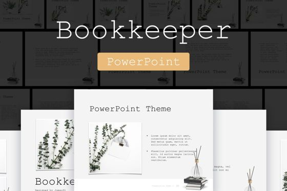 Presentation Templates: Bookkeeper PowerPoint Template #04814
