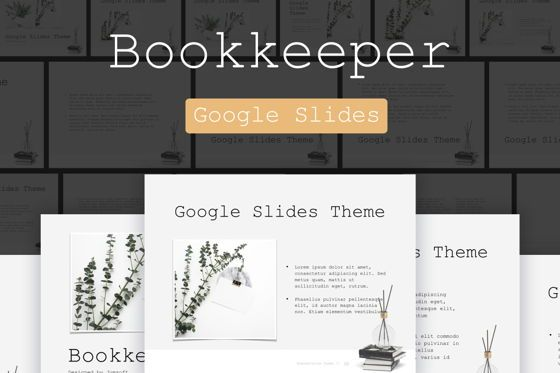 Presentation Templates: Bookkeeper Google Slides #04818