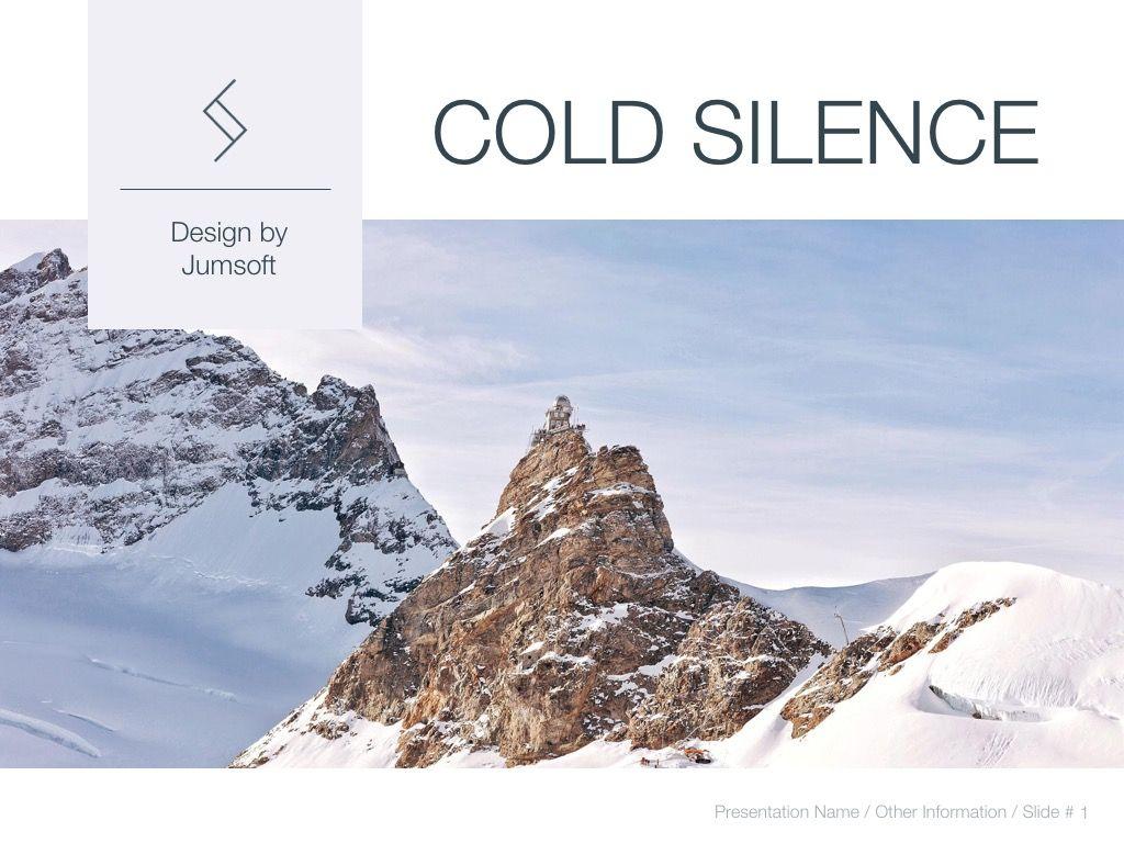 Cold Silence Google Slides, Slide 2, 04820, Presentation Templates — PoweredTemplate.com