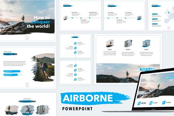 Presentation Templates: Airborne PowerPoint Template #04821