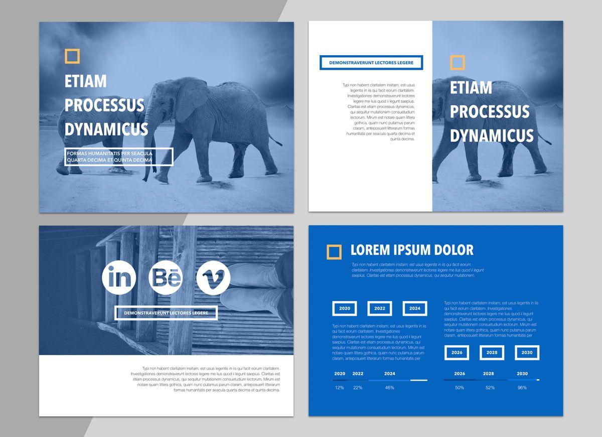 True Blues Powerpoint Presentation Template, Slide 2, 04822, Business Models — PoweredTemplate.com