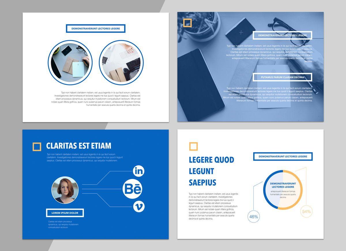 True Blues Powerpoint Presentation Template, Slide 3, 04822, Business Models — PoweredTemplate.com