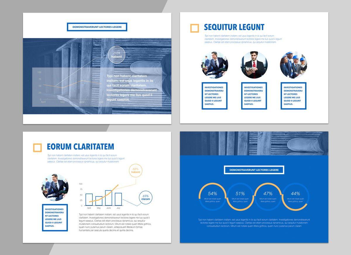 True Blues Powerpoint Presentation Template, Slide 4, 04822, Business Models — PoweredTemplate.com