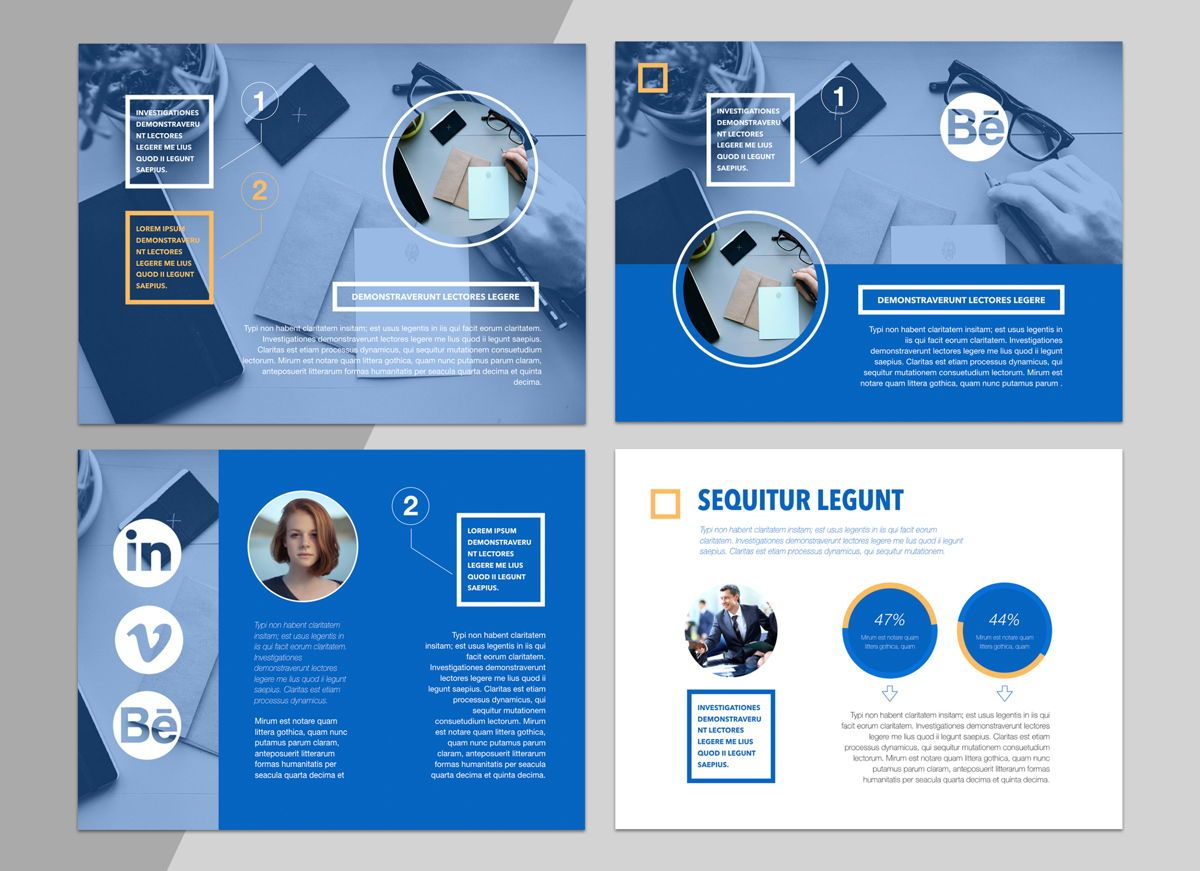True Blues Powerpoint Presentation Template, Slide 5, 04822, Business Models — PoweredTemplate.com