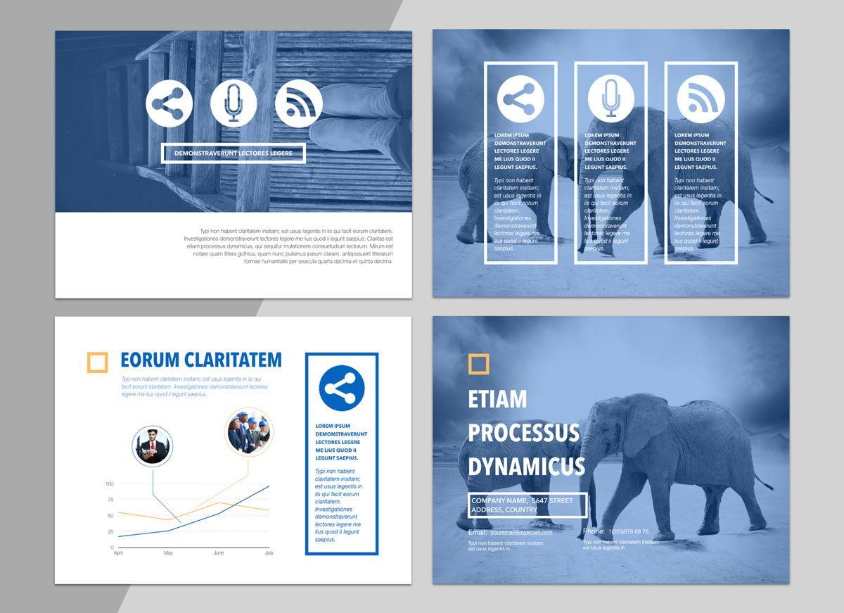 True Blues Powerpoint Presentation Template, Slide 6, 04822, Business Models — PoweredTemplate.com