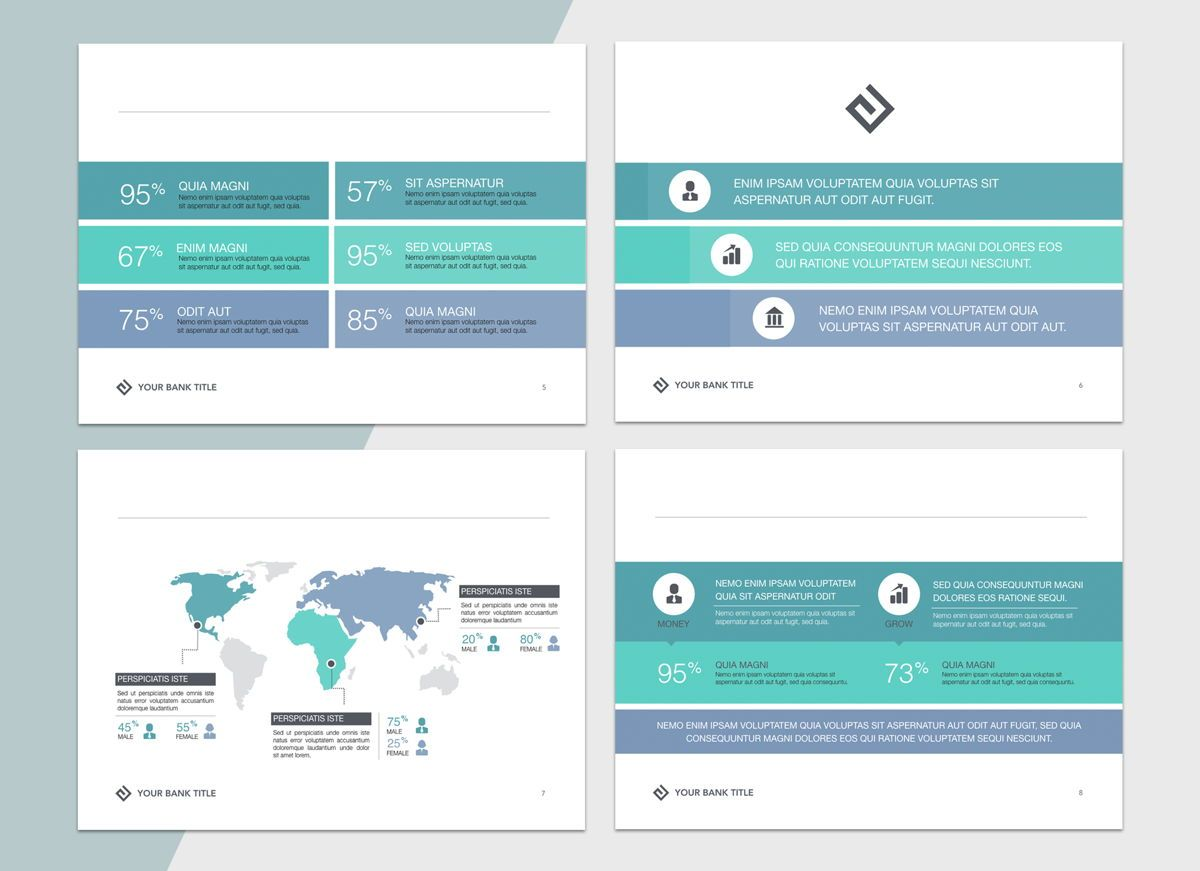 Turquoise Light Powerpoint Presentation Template, Folie 3, 04823, Business Modelle — PoweredTemplate.com