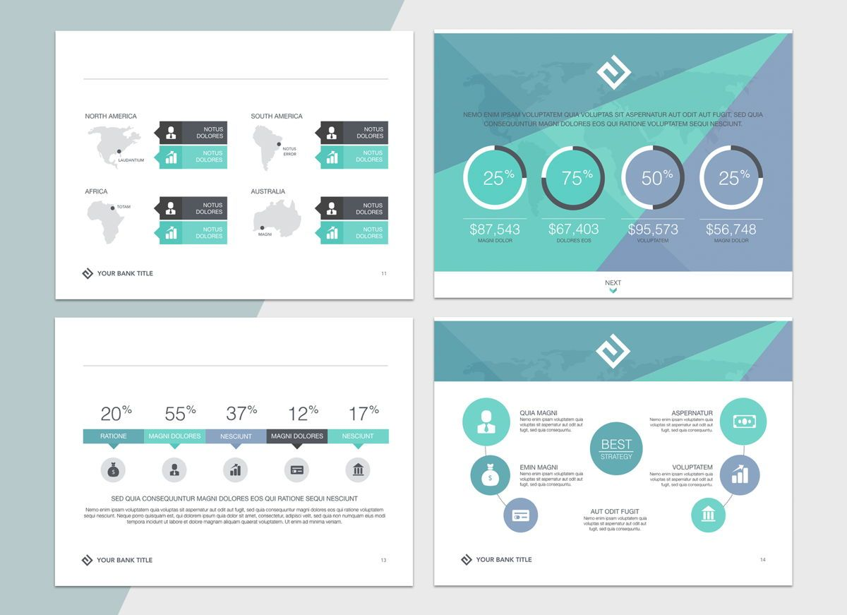 Turquoise Light Powerpoint Presentation Template, Folie 4, 04823, Business Modelle — PoweredTemplate.com