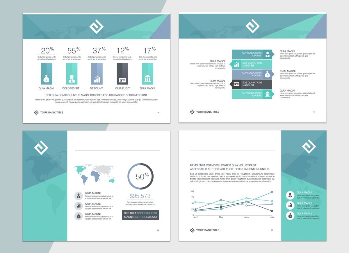 Turquoise Light Powerpoint Presentation Template, Folie 5, 04823, Business Modelle — PoweredTemplate.com