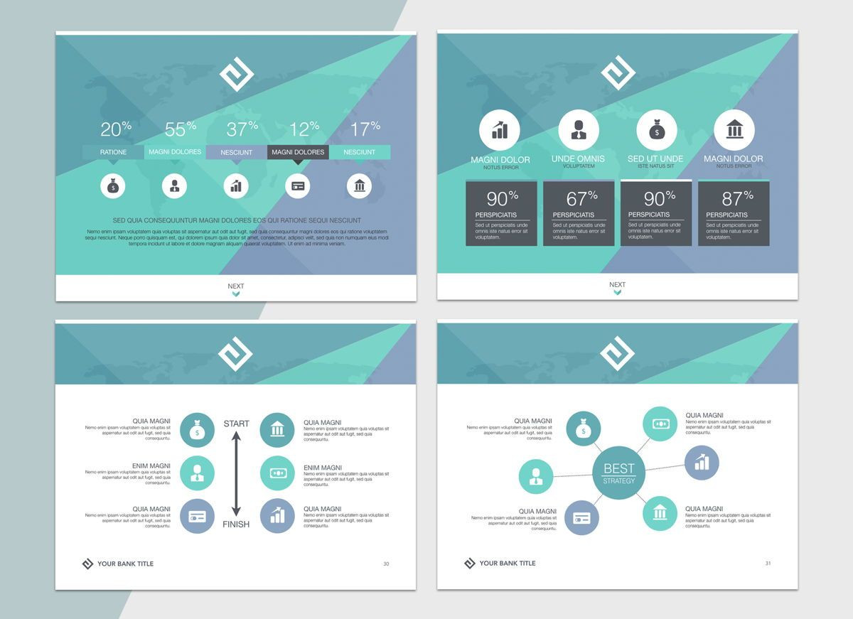 Turquoise Light Powerpoint Presentation Template, Folie 6, 04823, Business Modelle — PoweredTemplate.com
