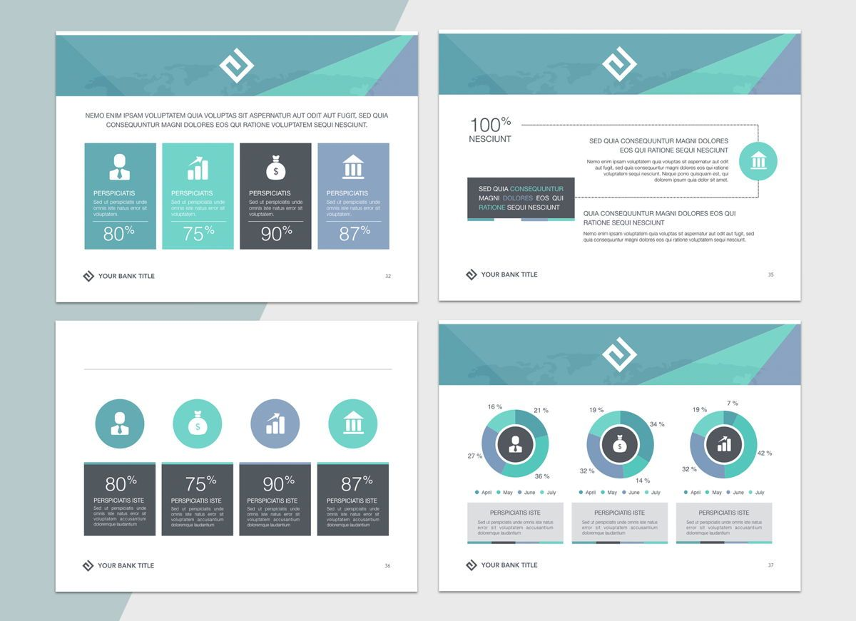 Turquoise Light Powerpoint Presentation Template, Folie 7, 04823, Business Modelle — PoweredTemplate.com