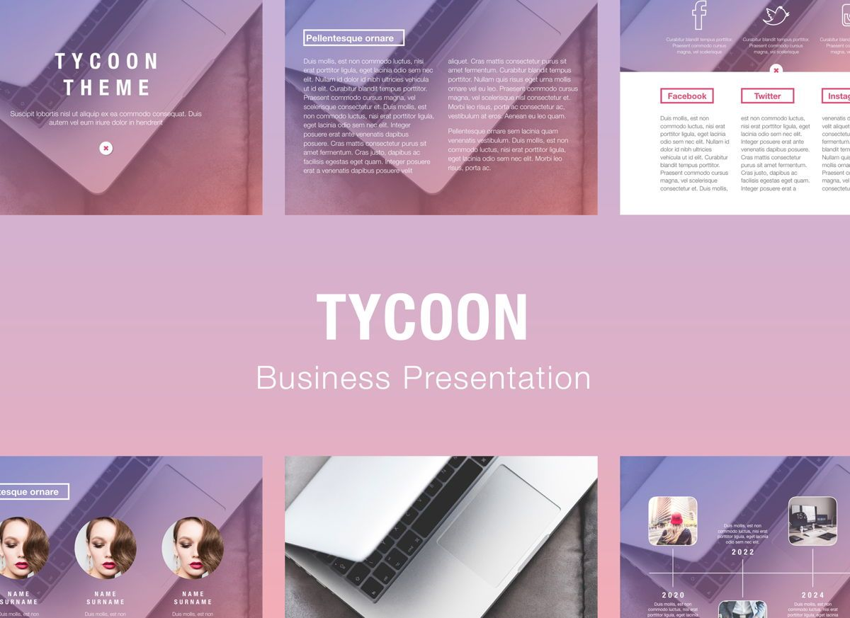 Tycoon Powerpoint Presentation Template, 04824, Business Models — PoweredTemplate.com