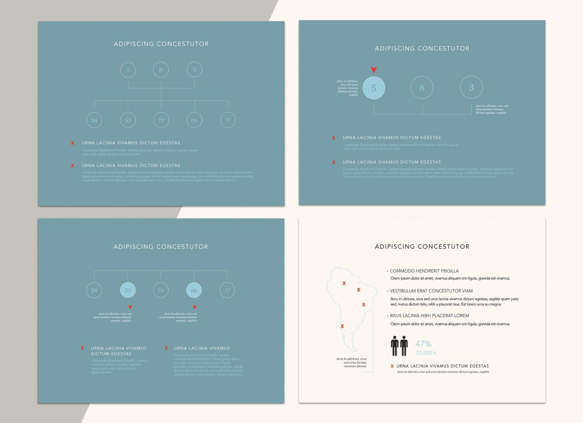 Urban Blues Powerpoint Presentation Template, Slide 7, 04825, Business Models — PoweredTemplate.com