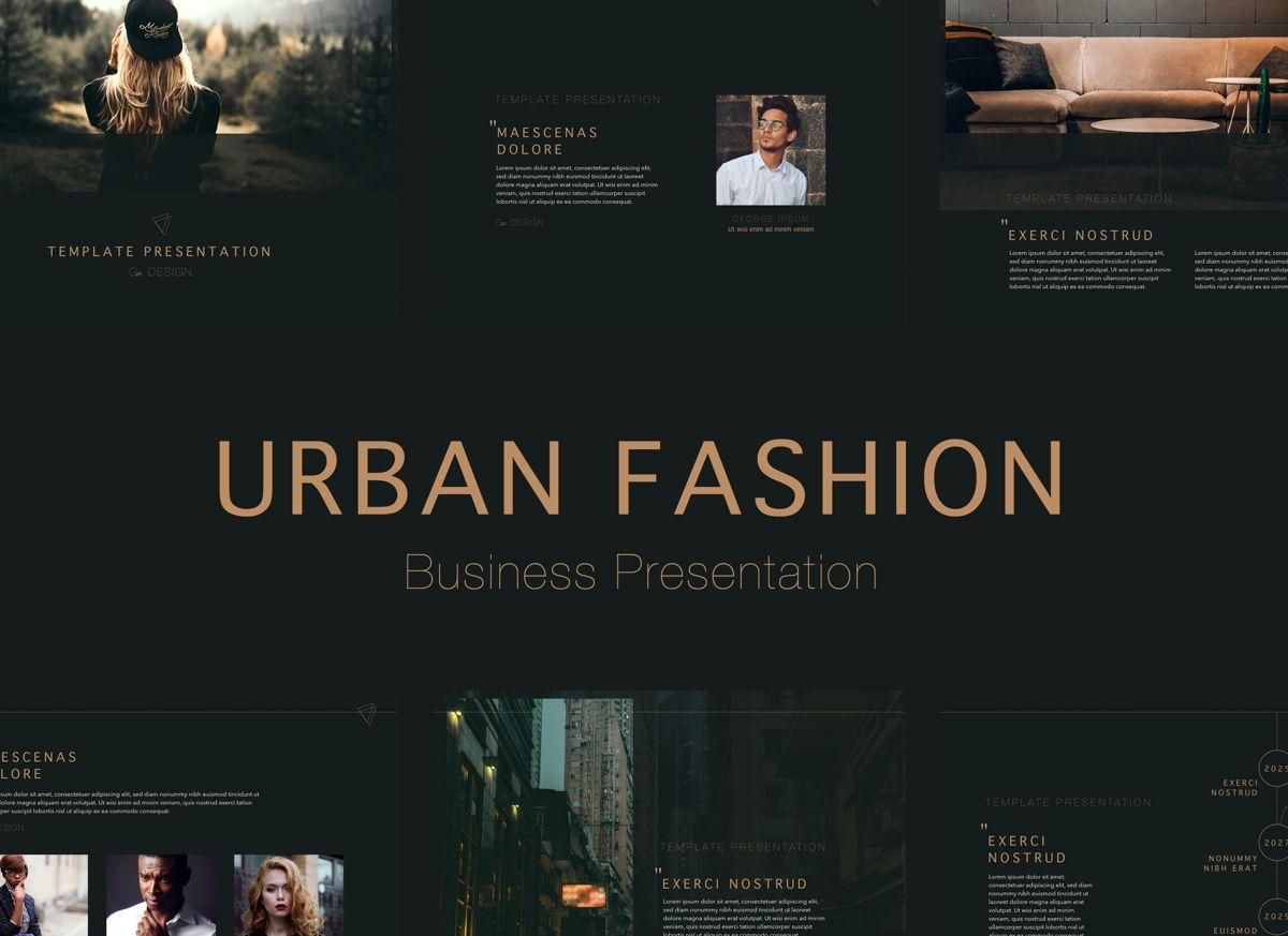 Urban Fashion Powerpoint Presentation Template, 04826, Business Models — PoweredTemplate.com