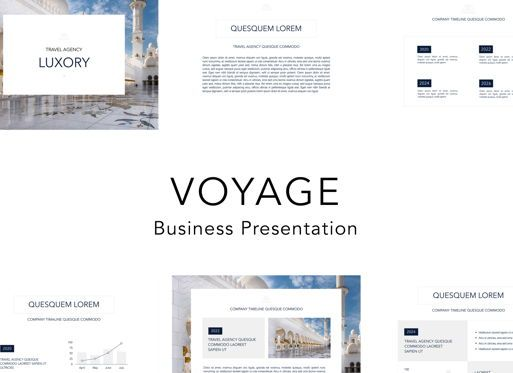 Business Models: Voyage Powerpoint Presentation Template #04827
