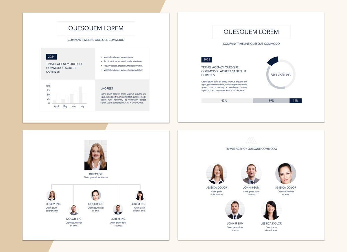 Voyage Powerpoint Presentation Template, Slide 3, 04827, Business Models — PoweredTemplate.com