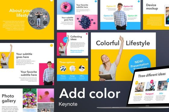 Presentation Templates: Add Color Keynote Template #04829