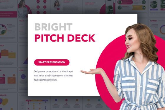 Presentation Templates: Bright Pitch Deck PowerPoint Template #04832