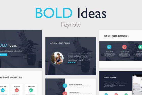 Presentation Templates: Bold Ideas Keynote Template #04835