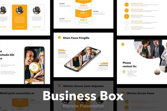 Infographics: Business Box Keynote Presentation Template #04836