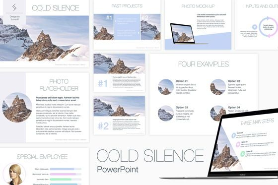 Presentation Templates: Cold Silence PowerPoint Template #04838