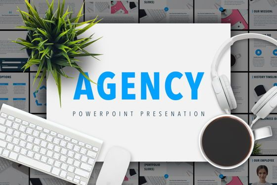 Infographics: Agency Showcase PowerPoint Presentation Template #04839