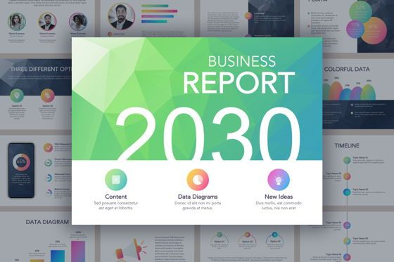Infographics: Business Report Colorite Google Slides Theme #04840