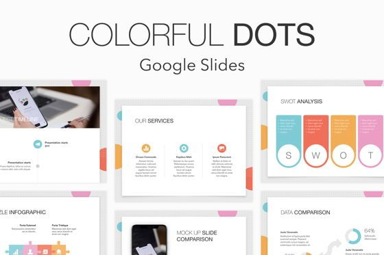Presentation Templates: Colorful Dots Google Slides Theme #04843