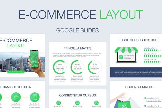 Infographics: E-Commerce Google Slides Template #04844