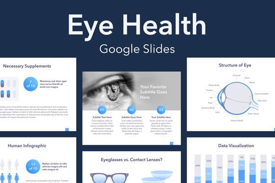 Medical Diagrams and Charts: Eye Health Google Slides Template #04845