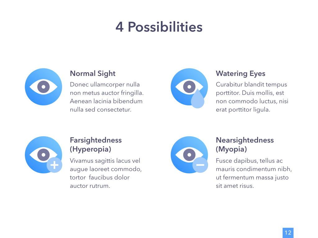 Eye Health Google Slides Template, Slide 13, 04845, Medical Diagrams and Charts — PoweredTemplate.com