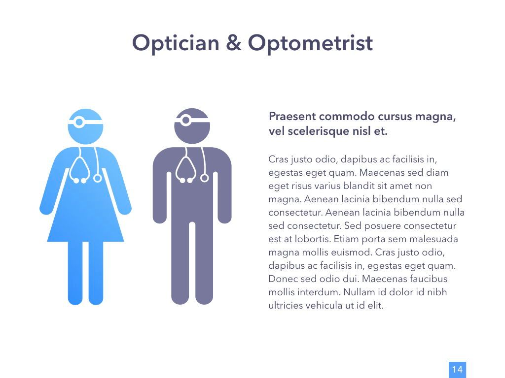 Eye Health Google Slides Template, Slide 15, 04845, Medical Diagrams and Charts — PoweredTemplate.com